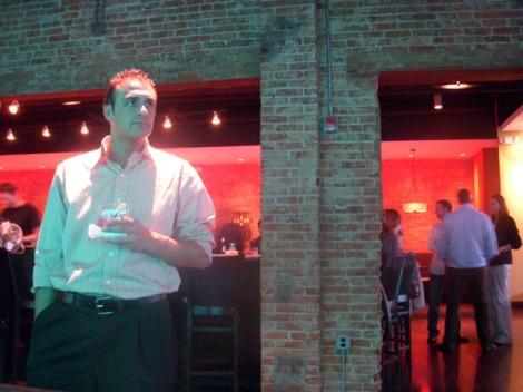 Steve Enjoying a drink at 7 Arts of Design